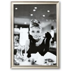 Art.com ''Audrey Hepburn'' Framed Art Print, Coventry Champagne ($209) ❤ liked on Polyvore featuring home, home decor, wall art, coventry champagne, star home decor, wood home decor, handmade home decor, star wall art and wood wall art