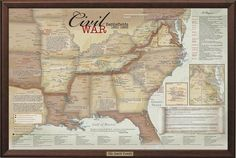 Here is the perfect gift for the Civil War buff in your family! This travel map includes historical information about the Civil War, and plots out all 388 battl