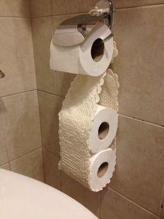 porta papel higiênico de crochê