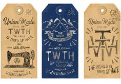 Tag design - rabbitinthehole TWTH Atelier by BMD Design – Tag design Logos Vintage, Vintage Labels, Vintage Designs, Vintage Branding, Typography Letters, Graphic Design Typography, Graphic Design Illustration, Watercolor Illustration, Packaging Design