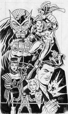 Comic Book Artists, Comic Artist, Comic Books Art, Bruce Timm, Dc Comics, Marvel Comic Universe, Classic Comics, Marvel Fan, Coloring Book Pages