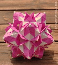 Small ball flower inside a large open ball flower origami small ball flower inside a large open ball flower origami japanese kusudama flowers pinterest origami mightylinksfo
