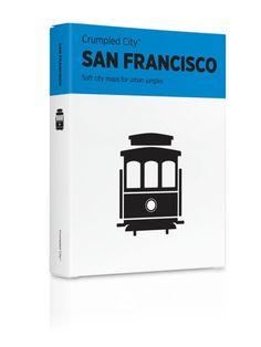 San Francisco, California Crumpled City Map by Palomar S.r.l.