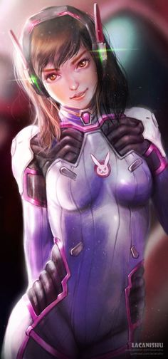 Overwatch, D.Va, by lacanishu