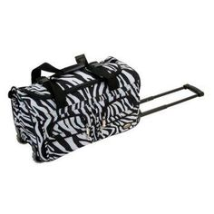 Rockland Luggage Zebra 22 In Rolling Duffel Bag