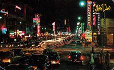 CENTRAL L.A. | HOLLYWOOD:  Hollywood Boulevard, 1960's.