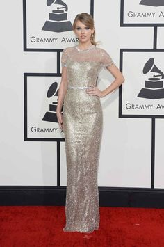 Taylor Swift   Fashion On The 2014 Grammy Awards Red Carpet