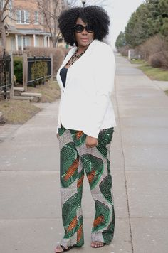 plus size fashion inspiration : African print trousers