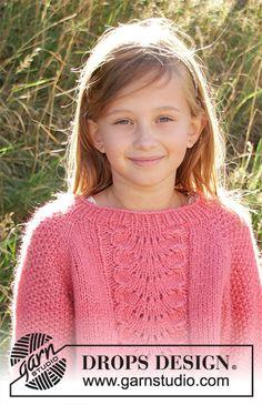 Children - Free knitting patterns and crochet patterns by DROPS Design Free Childrens Knitting Patterns, Chunky Knitting Patterns, Knitting For Kids, Free Knitting, Baby Knitting, Drops Design, Knit Or Crochet, Crochet For Kids, Lace Patterns