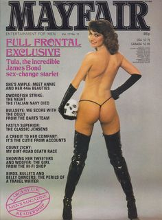 Mayfair Vol. 17 # 11 with Caroline Cossey photographied by Kenneth Bound (N. 1982)