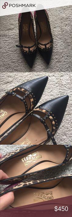 "Salvatore Ferragamo Liena pumps. Size 7 Never worn new. Authentic. No box and dust bag. True to size 7. 3.5"" heels. No trades. Salvatore Ferragamo Shoes Heels"