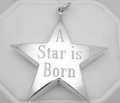 I got this for my first born's 1st Christmas with her initials and year... Beautiful!