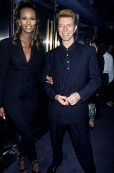 David Bowie and Iman's Cutest Pictures | POPSUGAR Celebrity  Image Source: Getty / Kevin.Mazur