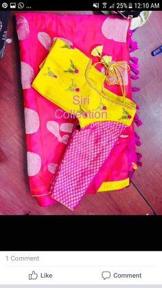 Simple Blouse Designs, Sari Blouse Designs, Blouse Styles, Samantha In Saree, Maggam Work Designs, Blouse Models, Work Blouse, Saree Collection, Saree Blouse