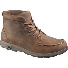 The Brio is a mid-height boot with an oiled full-grain leather upper, rolled cuff detailing, and waxy round cotton laces. Built with Chacos long-lasting LUVSEATT comfort and support, and finished off with a rugged EcoTreadT outsole, the Brio is ready for town or trail.UPPERWater-resistant, oiled full grain leather with clean aesthetic and moc toe detail Waxed, round, cotton laces with embossed metal hardware Polyester mesh lining MIDSOLERemovable, mesh lined, cushioned LUVSEATT polyurethane…