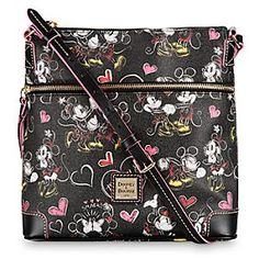Disney Romancing Minnie Letter Carrier Bag by Dooney & Bourke | Disney StoreRomancing Minnie Letter Carrier Bag by Dooney & Bourke - Blow a kiss to the world when carrying this large leather Letter Carrier Bag by Dooney & Bourke. Covered with sweet images of Mickey and Minnie's timeless love affair, it's a delightful delivery bag for daily essentials.