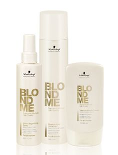 BLONDME. Schwarzkopf Professional. Great products for lightened and highlighted hair.