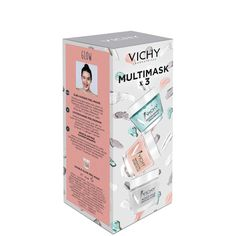 Lahjapakkaus naamioita rakastavalle! Vichy naamiolahjapakkaus sisältää kasvonaamion joka tarpeeseen: kosteuttava Quenching Minerals Mask (15 ml), syväpuhdistava Pore Purifying Clay Mask (15 ml) ja hehkua antava, kuoriva Double Glow Peel Maks (15 ml). Saatavilla rajoitettu erä.