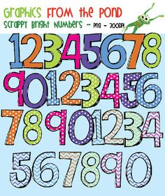 Here's a huge set of number clip art for creating your own resources.
