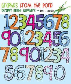 Bright Scrappy Numbers SUPER Pack!