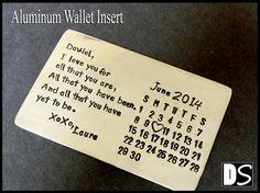 Aluminium Brieftasche einfügen hand gestempelt von deluxestudio