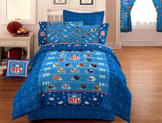 NFL Football On The Field   Bedding Comforter   Twin Single Size