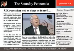 The UK recession may not be as bad as feared plus Professor Milton Keynes shares his first guest column! JKA