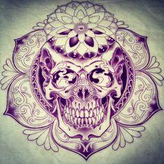 Pretty and badass ♥ skull