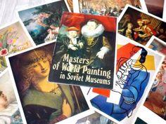 Art postcards  Masterpiece print set  Vintage by #LupusShop on Etsy #integritytt