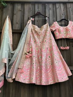 Peach Ivory Silk Lehenga WhatsApp us for more details : Pakistani Lehenga, Lehenga Choli Wedding, Raw Silk Lehenga, Party Wear Lehenga, Anarkali, Pink Lehenga, Heavy Lehenga, Brocade Lehenga, Lehenga Saree