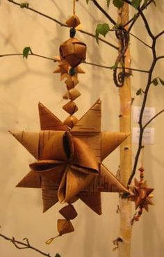 Maybe the instructors would let me develop their class for an online version: Weaving Holiday Ornaments From Birch Bark
