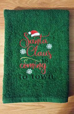 Christmas Embroidered Velour Hand Towel Christmas Train