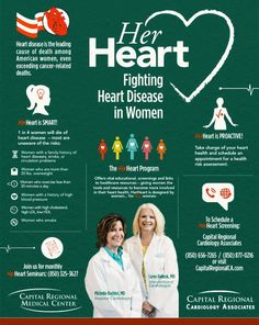 HerHeart is special because it is created BY women FOR women. Leading the HerHeart Program are Carey Dellock, MD, the only female interventional cardiologist in the Big Bend Region, and Michelle Bachtel, MD, an invasive cardiologist. Both women are with Capital Regional Cardiology Associates and are passionate about educating women about heart health and providing specialized, individualized care to prevent and fight heart disease.