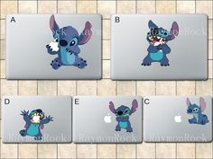 Stitch Decal   Macbook Decal Macbook Stickers Mac by RaymonRock, $8.50