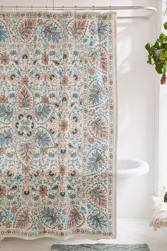 Bohemian Style Shower Curtains for Bath Decor ⋆ Main Dekor Network Pretty Shower Curtains, Bathroom Curtains, Bohemian Shower Curtain, Plywood Furniture, Cortina Box, Bath Decor, Room Decor, Bathroom Niche, Bathroom Ideas