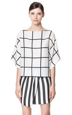 CHECKERED BLOUSE - Shirts - Woman - ZARA United States