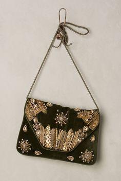 Boho Beaded Velvet Bag