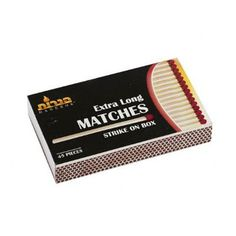 Extra Long Matches/Case of 2700 Tags:  Matches; Everyday; Wood Matches; https://www.ktsupply.com/products/32788345974/Extra-Long-MatchesCase-of-2700.html