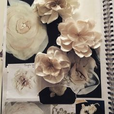 Developing silk flower embellishments for a bridal corsage #Bridal #Bespoke #taradeighton #wedding