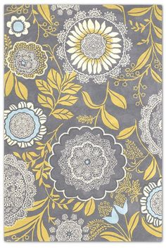 Grey & Yellow Area Rug. 5x7 $568