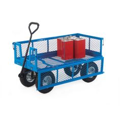 Platform Truck with Mesh Sides