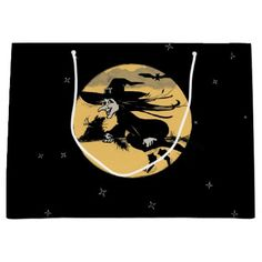Halloween Witch Large Gift Bag - Halloween happyhalloween festival party holiday