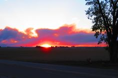 Sunset seen through smoke from the #HighParkFire burning north of #FortCollins #Colorado
