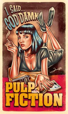 Pulp Fiction by Renato Cunha - Home of the Alternative Movie Poster -AMP-