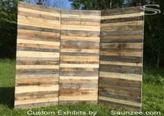 Saunzee Custom Recycle Pallet Wood Exhibits Pallet Wood Trade Show Booths…                                                                                                                                                                                 More