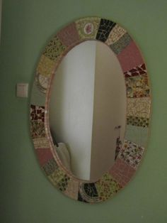 Art by anat simons. Mirror Mosaic, Mosaic Art, Mosaics, Mosaic Designs, My Arts, Life, Home Decor, Decoration Home, Room Decor