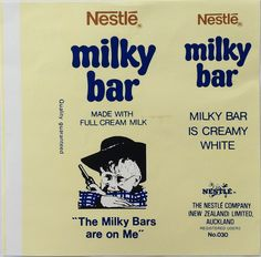 1970s Nestle Milky Bar Wrapper Vintage Food, Vintage Candy, Vintage Recipes, Vintage Art, Sweet Love Quotes, Love Is Sweet, 1970s Childhood, Childhood Memories, English Sweets