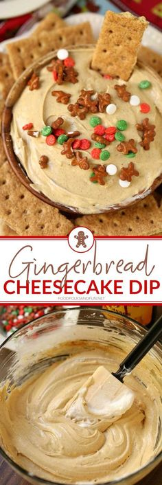This Gingerbread Cheesecake Dip is always a party favorite for the holidays. Mak… This Gingerbread Cheesecake Dip is always a party favorite for the holidays. Holiday Snacks, Christmas Snacks, Holiday Appetizers, Holiday Recipes, Dessert For Christmas Party, Holiday Dip, Holiday Resort, Next Holiday, Holiday Parties