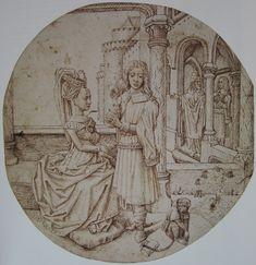 """Joseph and Asenath"" by Hugo van der Goes, c. 1475"