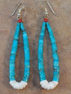 Lupe Lavato Kewa Turquoise Jaclas Bead Earrings $72.00